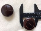 17-1045  x 3 Football Buttons - Chestnut  Leather