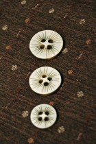 40-51074 Cream and Brown lasered button