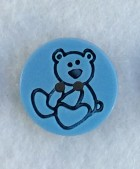 16-1015 Chilldren's Teddy Bear Button