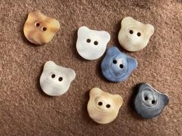 03-2147 Cat Face Button  x 3