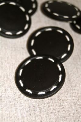 04-55552A 60L Black Stitch Button