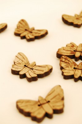 Coconut Butterfly Button