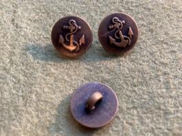 08-B1778 Antique Brass  Anchor  Shank Button x 1 LIMITED STOCK