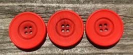 Tomato Red Wide Ring Edge Button 54L