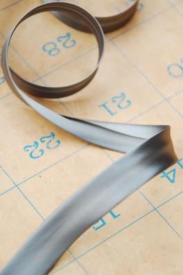 15mm Grey Satin Double Fold Bias Binding x 1m