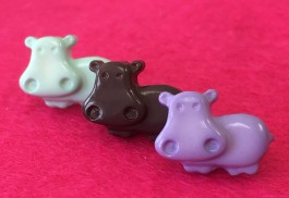 38-3026  hippo button x 1