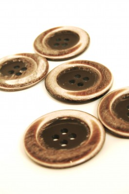 Big Brown Coat Button x 1