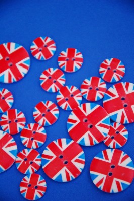 40-31762 Union Jack Button x 5