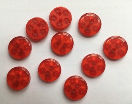40-50612 20L Red Daisy Button x 50