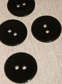 55-7613 60L 2 hole black coat button x 1