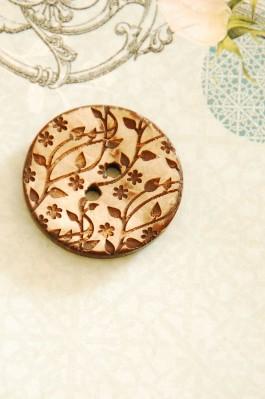 63-04561 40L Coconut Vine Button x 1