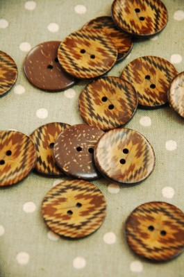 63-A2531 48L Printed Coconut Button x 1