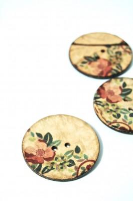70-1046A 64L Printed Coconut Button x 1