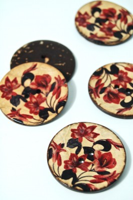 70-1088A 64L Printed Coconut Button x 1
