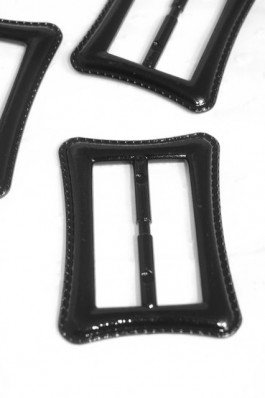 88-H090 50mm Lacquered Black Buckle
