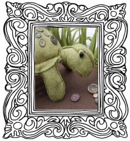 Augustus Tortoise Pattern or Kit - Charlie Duck Designs