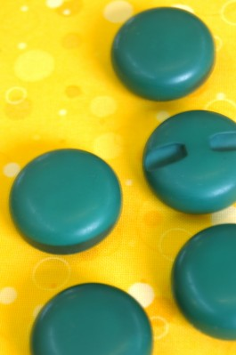 Round Dark Green Button!  29mm x 1