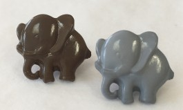 38-2976 grey or khaki elephant button x 1