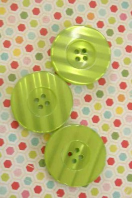Large Lime Button x 1