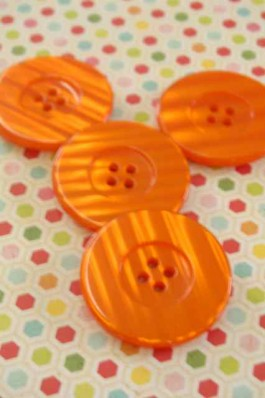 Large Orange Button x 1