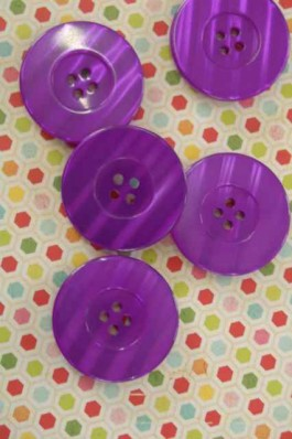 Large  Purple Button x 1
