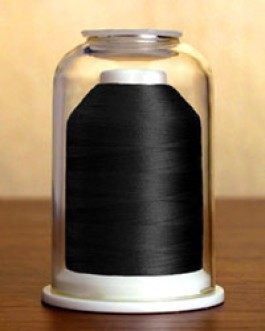 1000 Classic Black Hemingworth Machine Embroidery & Quilting Thread