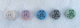 16-1015 Chilldren's Teddy Bear Button Retail