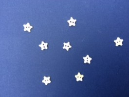14-04127  18L Star Button x 8  LIMITED STOCK