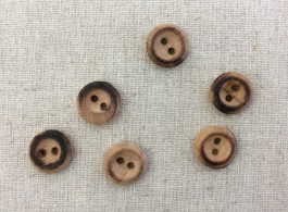 Small Wooden Button x 10