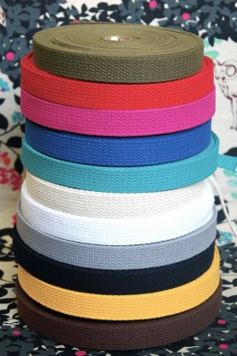 "Cotton Webbing Tape 1"" x 22m"