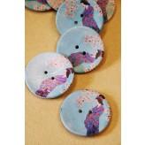 70-A5171 64L  Geisha Girl Printed Coconut Button