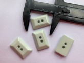 03-2117 Pale Aqua Rectangle  Button  x 1 - Limited Stock
