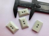 03-2117 Pale Aqua Rectangle  Button  x 1 - Limited Stock