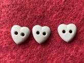 03-2119 Pale Aqua Heart Button x 5