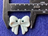 03-2120 Pale Aqua Bow Button x 1  LIMITED STOCK