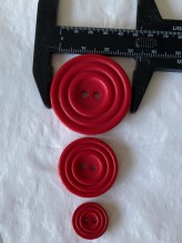 03-2126 Crimson Red Record Button  x 1