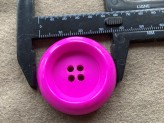 03-2130 Deep Dish Hot Pink Coat Button - Limited Stock
