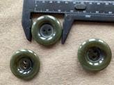 03-2131 Pine Green Horn Effect Coat Button
