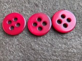 03-2143 Crimson Button with 4 large holes VERY LIMITED STOCK