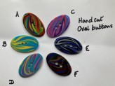 03-2152 Multi-colour oval button - Limited Stock