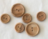 09-8530 Ring Edge Wooden Buttons VERY LIMITED