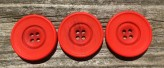 Tomato Red Wide Ring Edge Button 54L