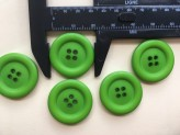 09-9009 Green Ring Edge Button x 1