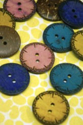 Coloured Coconut Buttons x 1