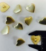 17-1070 Gold Heart Shank Button