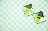 Sew On Acrylic Faceted Gem - Green - 25mm  x 1