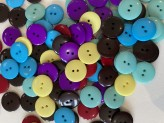 Mixed Colour Pack of 50 Smartie Buttons  32L  SPECIAL PRICE