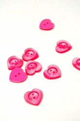 40-50979 28L Pink Heart Button x 5