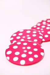 Hot Pink Giant Spotty Button - 80L