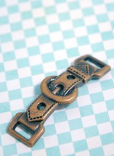 43-F177 Antique Brass Buckle Trim